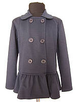 Черный пиджак для девочек трикотажный