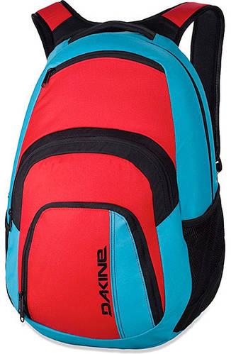 Яркий мужской городской рюкзак Dakine Campus 33L Threedee 610934842951  красный