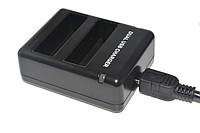 Зарядное устройство для двух аккумуляторов AHDBT-401. Dual Charger Gopro Hero 4