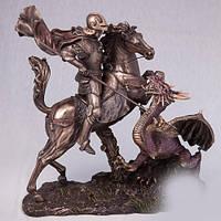"""Бронзовая статуэтка """"Георгий Победоносец""""(32 см)"""