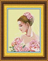 """Набор для рисования камнями (холст) """"Невеста"""" LasKo TL018 (45х60 см)"""