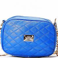 Женская сумка - клатч в стиле Chanel голубого цвета