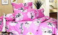 Детское полуторное постельное белье ТОМ и Джери для девочки