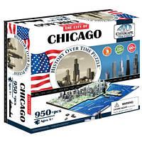 Пазл 4D Историческая модель Чикаго объемный пазл 4D Cityscape Chicago Time Puzzle