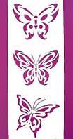 "Трафарет для нанесения рисунка на торт ""Три Бабочки""15 (код 00295)"