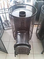 Печь для бани каменка (круглая сетка)с выносом