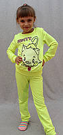 Костюм спортивный Китти желтый, фото 1