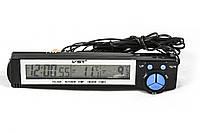 Автомобильные часы-термометр WST-7043