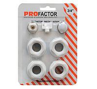 Комплект футорок для радиатора 3/4 profactor