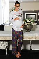 Пижама женская MARANDA 6395 (одежда для дома) кофточка: 46% хлопок, 46 % модал, 8% лайкра; брюки 100% хлопок
