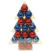 Набор шаров синий и красный 34 штуки