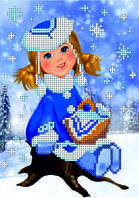 Схема для вышивки бисером Снегурочка КМР 5061
