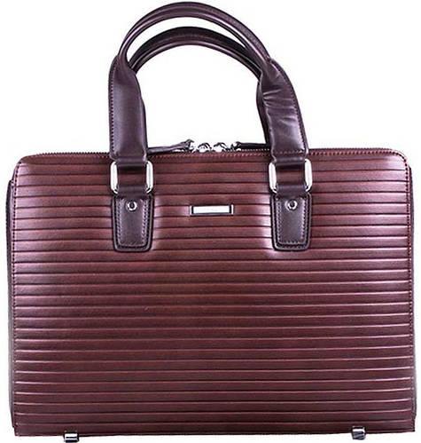 """Оригинальный, кожаный портфель-папка  с отделом под нетбук до 12"""" VERUS  Business V403 коричневый,черный"""