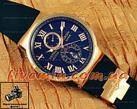 Мужские наручные часы Ulysse Nardin Maxi Marine Chronometer копия Blue Gold механика Улис Нардин