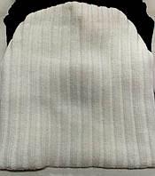 Женские, подростковые, мужские шапки шерстяные на флисе белые ША-4