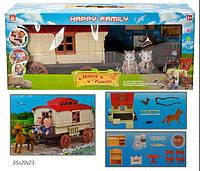 Флоксовые животные с кухней и каретой с лошаткой Happy Family