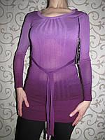 Молодежное платье-туника цвета фуксия, 44-46р.