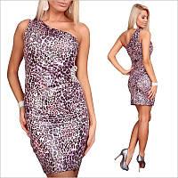 Платье с леопардовым принтом ярких оттенков