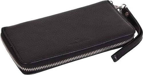 Женский кошелек-клатч кожаный Vip Collection, 1502A flat черный