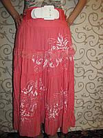 Женская длинная юбка, розовая 52р.