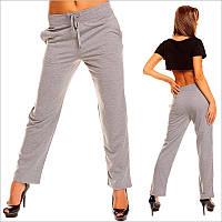 Прямые женские спортивные штаны серого цвета, штаны для дома