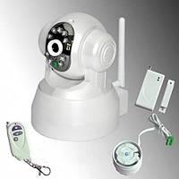 Ip-камера видеонаблюдения поворотная wi-fi t 8809 rw, беспроводной интерфейс, подсветка, датчики движения