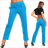 Ярко-голубые женские прямые штаны , интернет магазин женской одежды