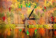 """Часы-картина """"Золотая осень"""" 30х45 см декор интерьера"""