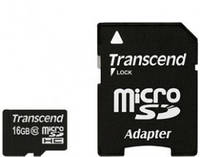 microSDHC Class 10 UHS-I Transcend 16Gb Premium 200x + SD адаптор