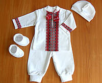 Тёплые байковые комплекты на выписку из роддома Крестильные наборы для новорожденного мальчика