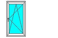 Окно металлопластиковое Aluplast 0.66*1.69
