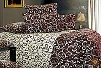 Комплект постельного белья Завиток-1 бязь люкс 100% хлопок шоколадно-бежевое
