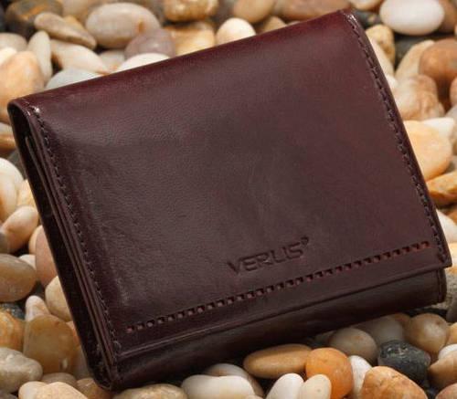 Кошелек стильный кожаный женский VERUS Monaco, артикул: 92B MN коричневый