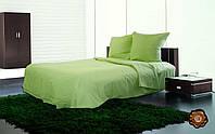 Комплект постельного белья однотонный салатовый бязь люкс 100% хлопок