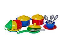 Игровой набор детская посудка Маринка 1 (в кульку) пластик Технок