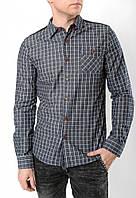 Мужская серая клетчатая рубашка