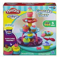 """Пластилин, игровой набор Плей До Play-Doh """"Башня из кексов"""", А5144"""