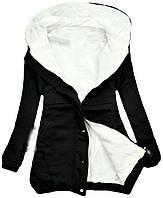 Женская толстовка , жеснкая туника на замочке черного цвета, женский худи