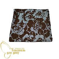 Наволочка декоративная рельефные цветы BURGAZ, коричневый