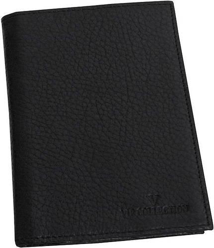 Кожаная обложка для паспорта VIP COLLECTION 101A flat черная