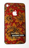 Сменная панель на iPhone4 принт