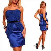 Синее платье - бандо.