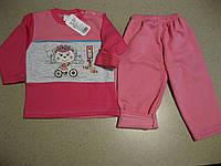 Детский теплый костюм 2ка  с начесом для девочки