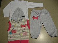 Детский костюм 3ка интерлок Для девочки