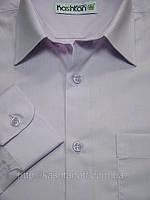 Светло-сиреневая школьная рубашка