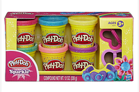 Набор пластилина Play-Doh Sparkle(с блёстками). Hasbro