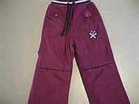 Детские зимние ,теплые брюки с подкладкой  на флисе  для девочки 3-6