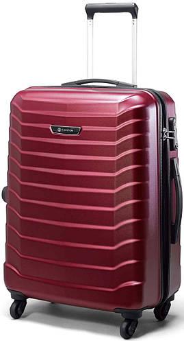 Пластиковый  малый чемодан 34 л. на 4-х колесах Jaguar CARLTON 230J455 красный
