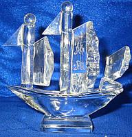 Корабль хрустальный (8см)