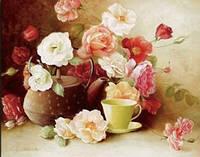 """Набор для вышивки нитками """"Прелестные Розы"""" фотопринт"""